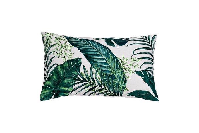 Подушка прямоугольная Зеленые листья