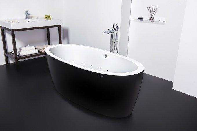 Акриловая Ванна Purescape 174A-Relax Черно-Белая с Аэромассажем