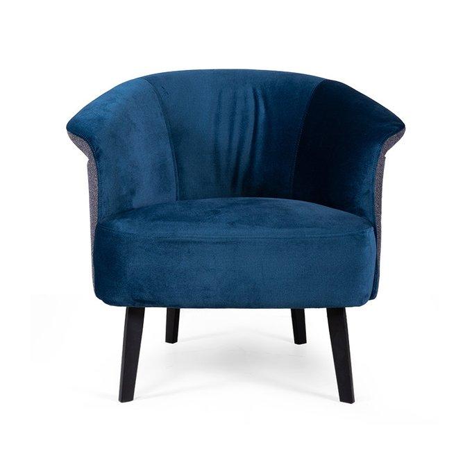 Кресло Lumire сине-серого цвета
