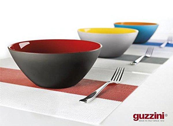 Салатница Guzzini my fusion black 20 см красная