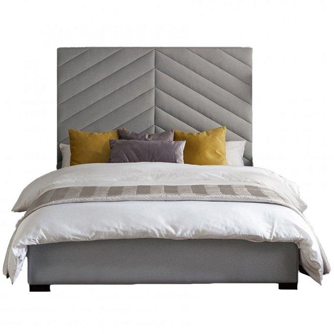 Кровать Shanti серого цвета 160х200