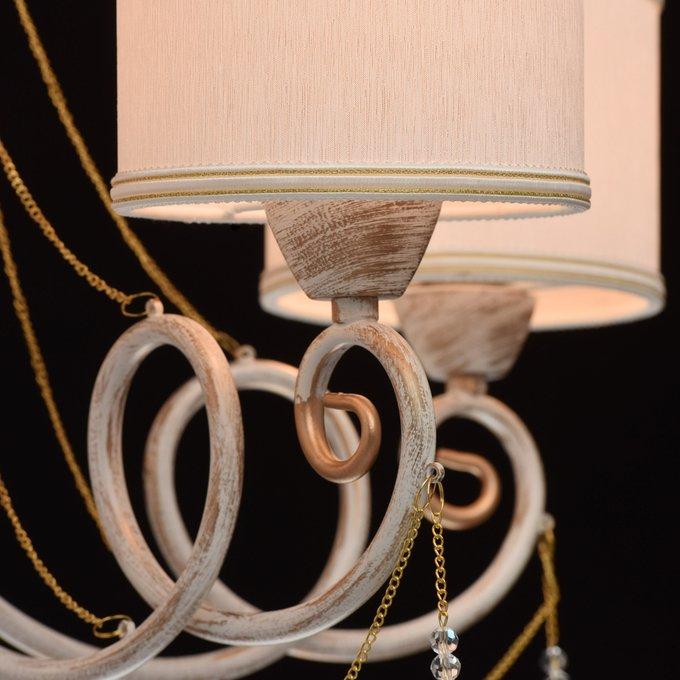 Подвесная люстра Виталина с белыми плафонами