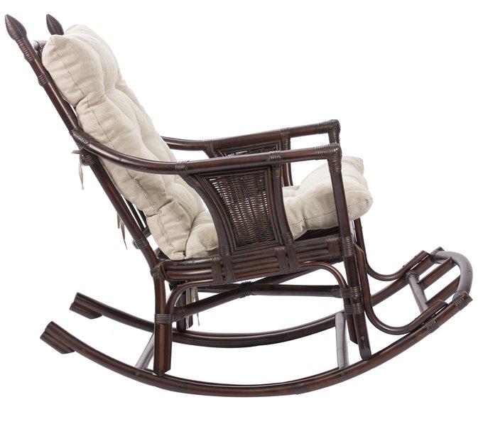 Кресло-качалка Chita с подушкой орех