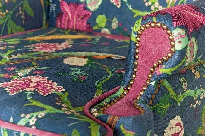Кресло Пэчворк Райский сад с цветочным принтом