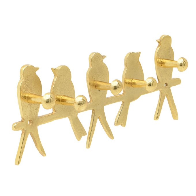 Вешалка настенная золотого цвета