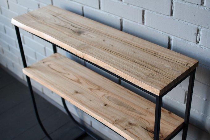 Консольный стол Two Oak из массива дуба и металла