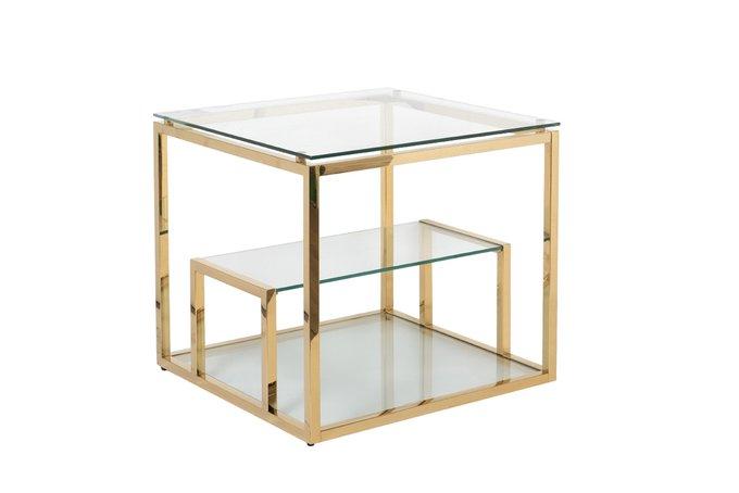 Кофейный стол из стали и стекла
