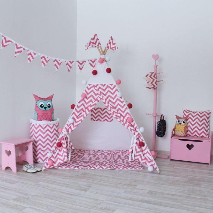 Вигвам для детей Pink Zigza из 100% хлопока