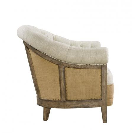Deconstructed chambery back armchair