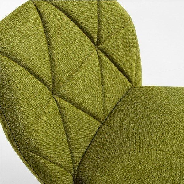 Стул с мягкой обивкой Gravite зеленого цвета