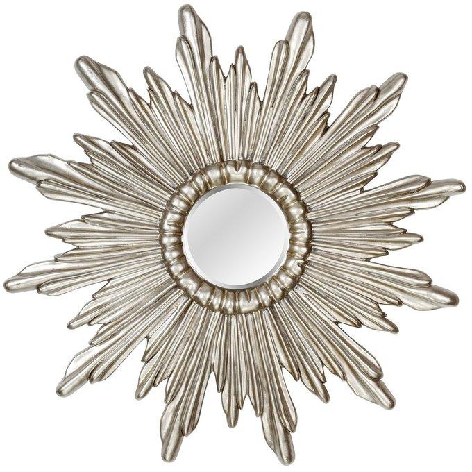 Настенное Зеркало-солнце Ray Silver