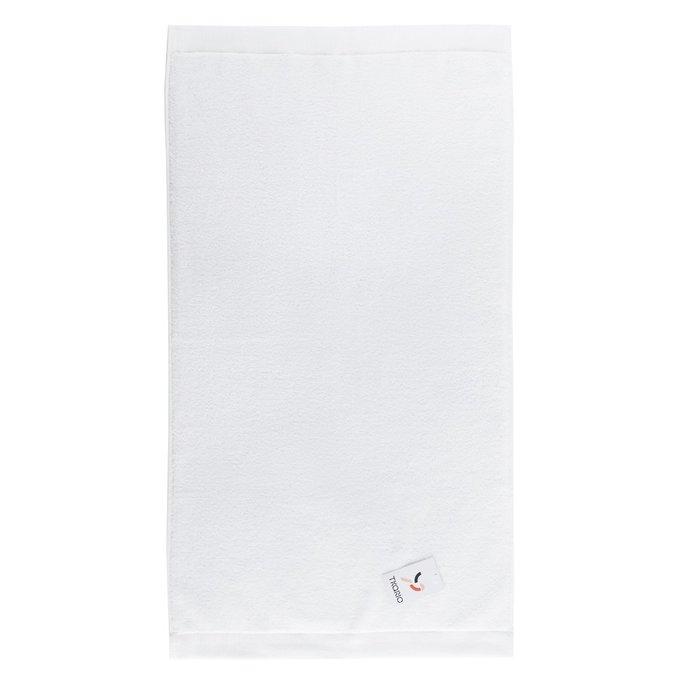 Полотенце банное из хлопка белого цвета