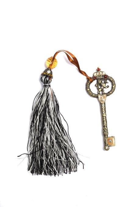 Подхват для штор Key with Tassel Black & White