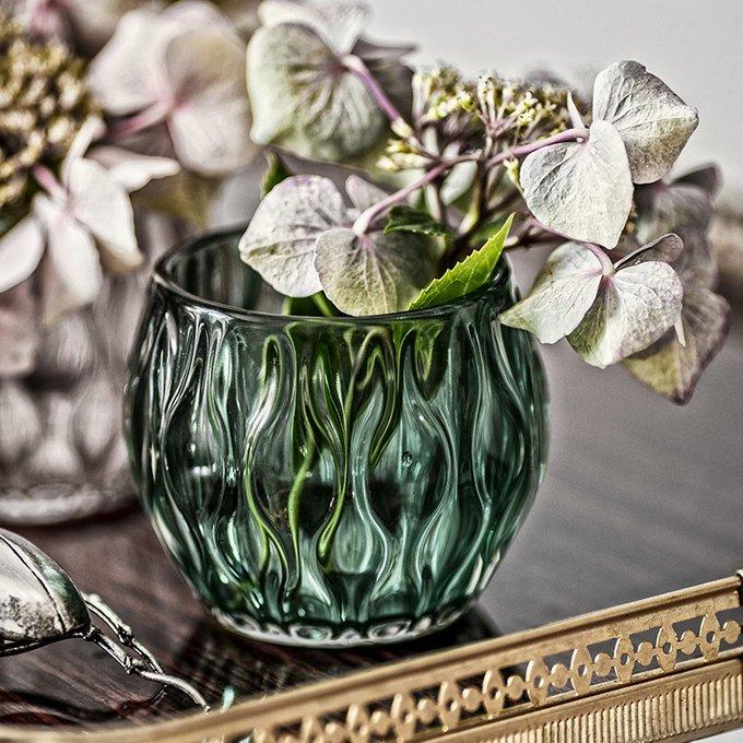 Подсвечник Adriana из зеленого стекла