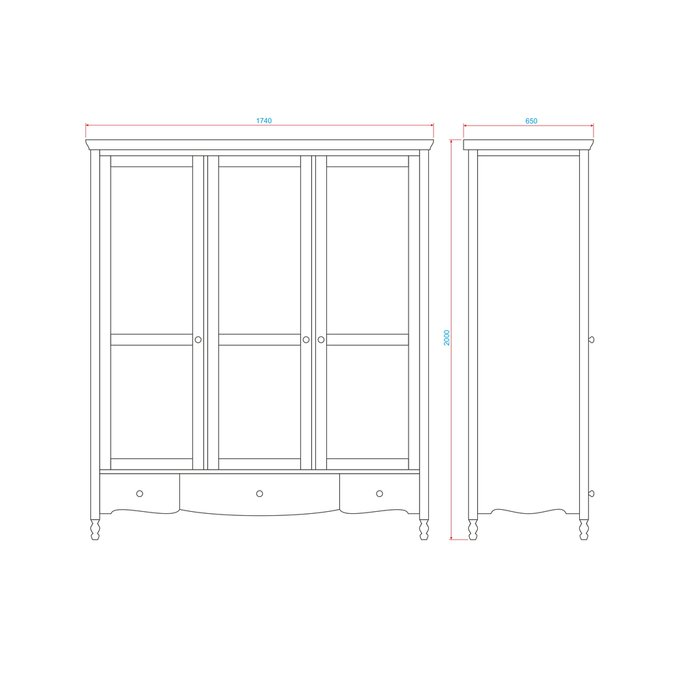 Шкаф трехдверный Leblanc