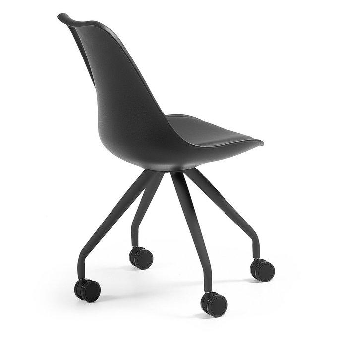 Кресло на колесиках Julia Grup Lars черное