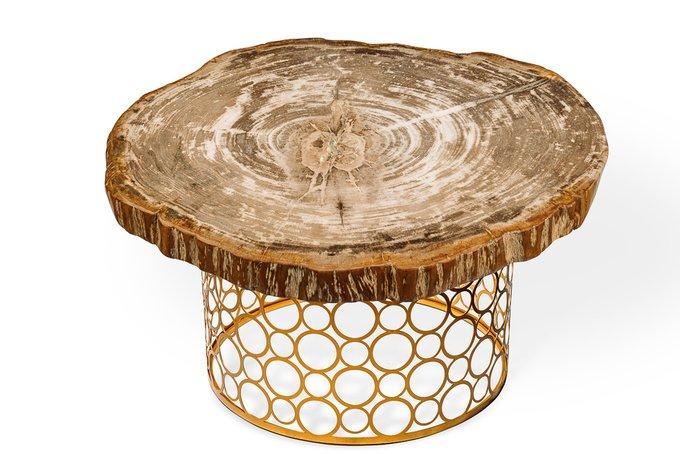 Журнальный стол Бинтау из окаменелого дерева 381158