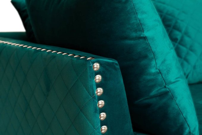Диван Sorrento трехместный бирюзового цвета