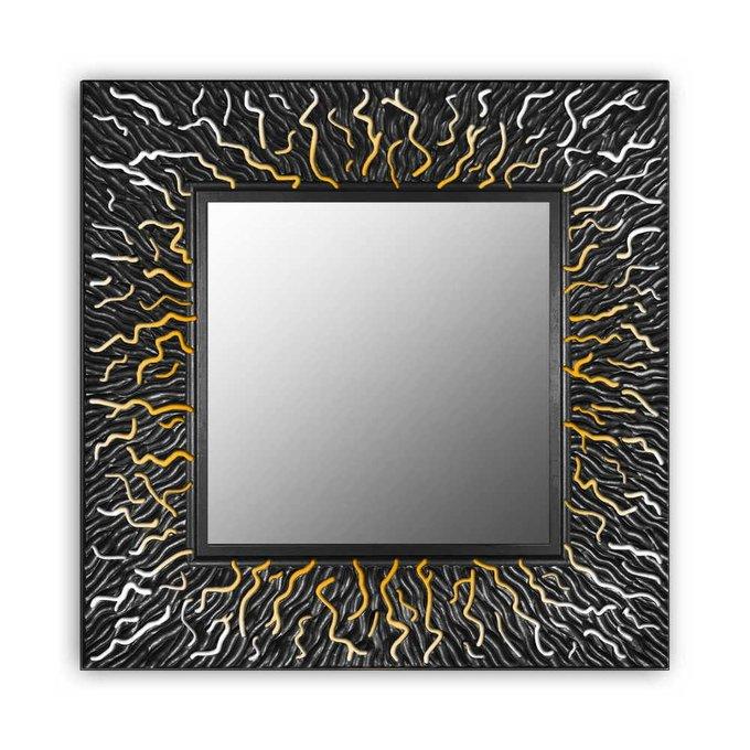 Настенное зеркало CORAL square black