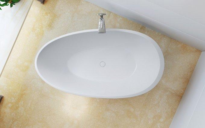 Каменная Ванна Spoon 2 Черно-Белая