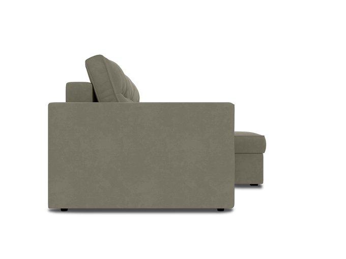 Угловой диван-кровать Macao серо-бежевого цвета