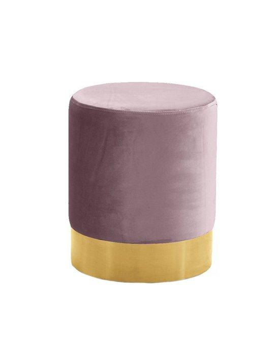 Пуф на золотом основании Domane розового цвета