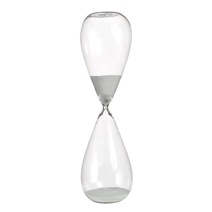 Часы Sandglass high white в прозрачной стеклянной колбе