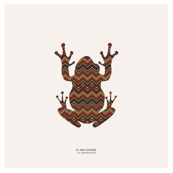 Картина (репродукция, постер): Зимний зоопарк, лягушка