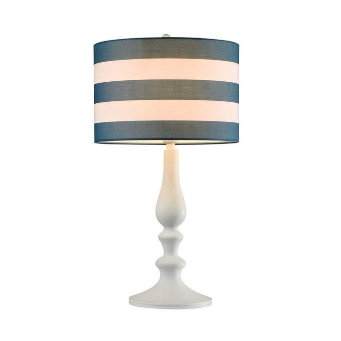 Настольная лампа Sailor с сине-белым абажуром