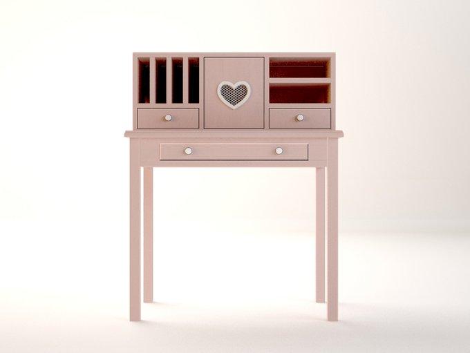 """Туалетный столик """"Adelina"""" в розовом цвете"""