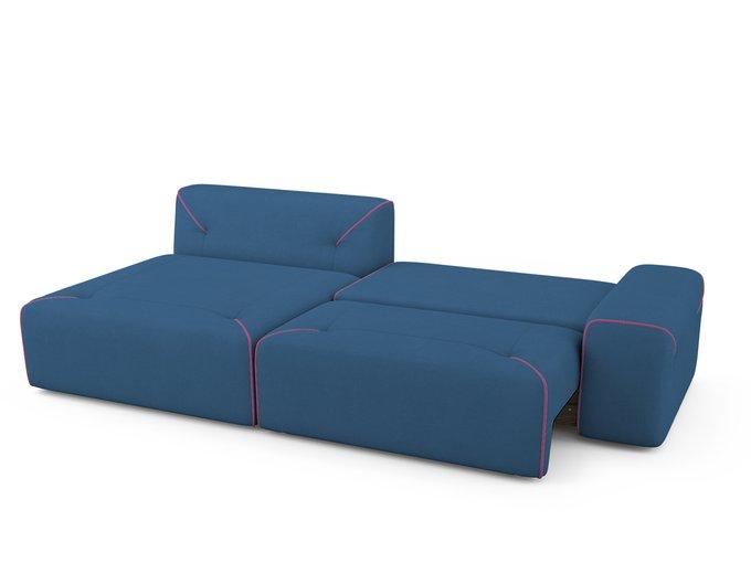 Угловой Диван-кровать Portu левый синего цвета