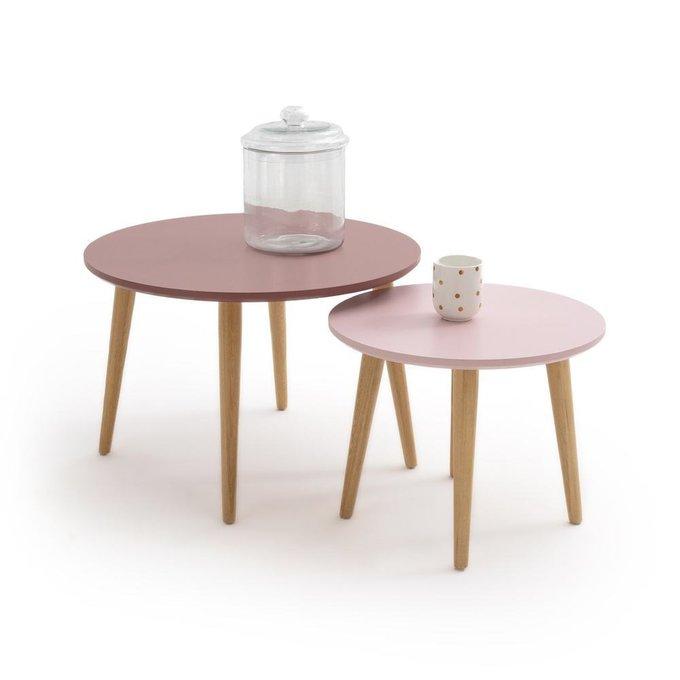 Набор из двух журнальных столиков Jimi розового цвета