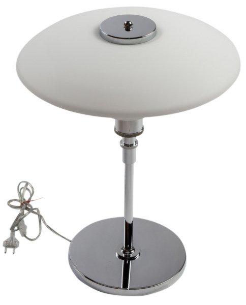 Лампа настольная из металла и стекла