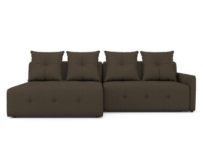 Угловой Диван-кровать Bronks левый темно-коричневого цвета