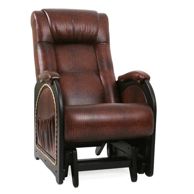 Кресло-глайдер для отдыха Модель 48 венге/Antik crocodile