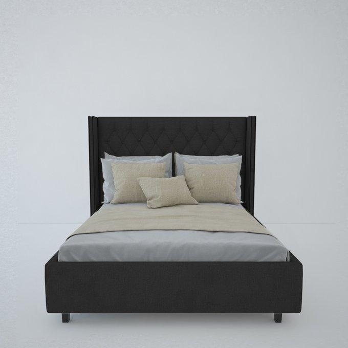 Кровать с декоративными гвоздиками Wing Лен 160x200
