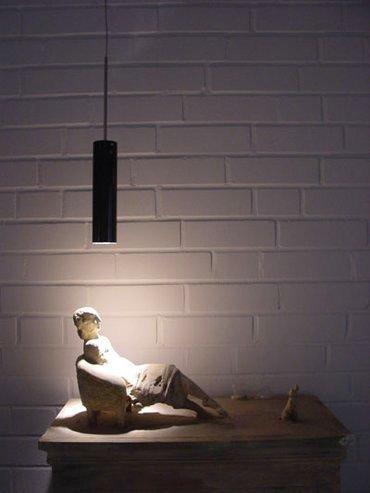 Подвесной светильник Catellani & Smith LUCENERA с плафоном из термостойкого карбона