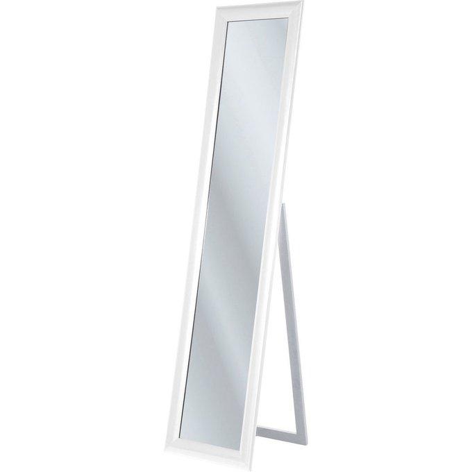 Зеркало напольное Modern Living белого цвета