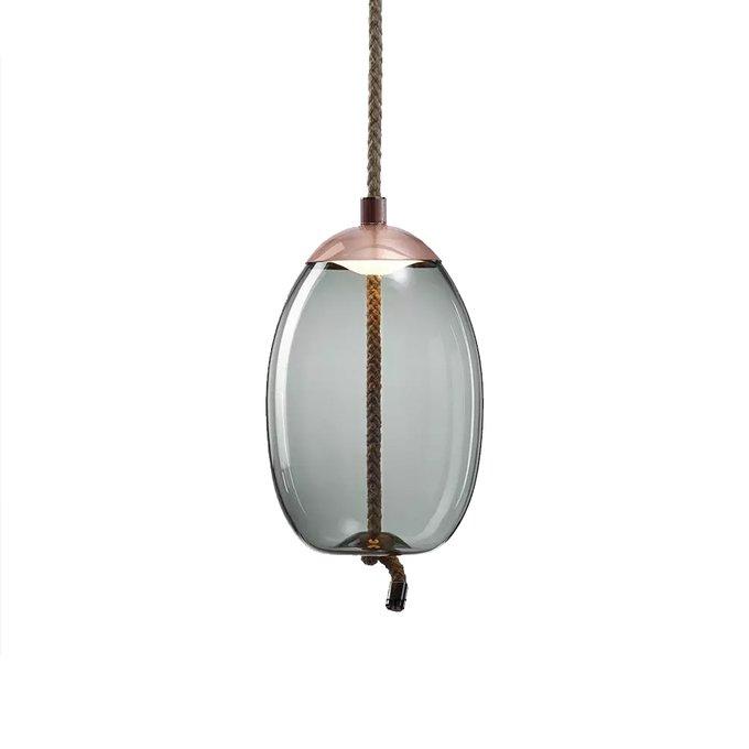 Подвесной светильник Knot A из стекла голубого цвета.
