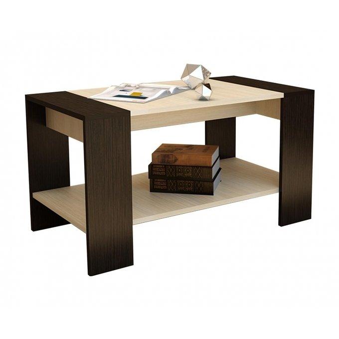 Журнальный стол Квадро цвета венге / дуб