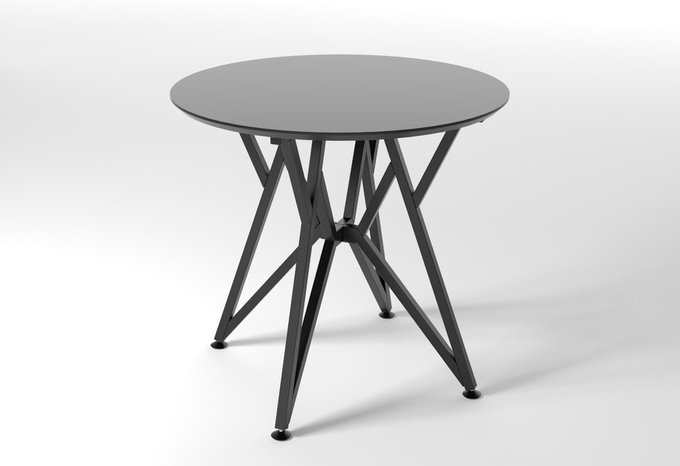 Круглый обеденный стол Voca Web серый
