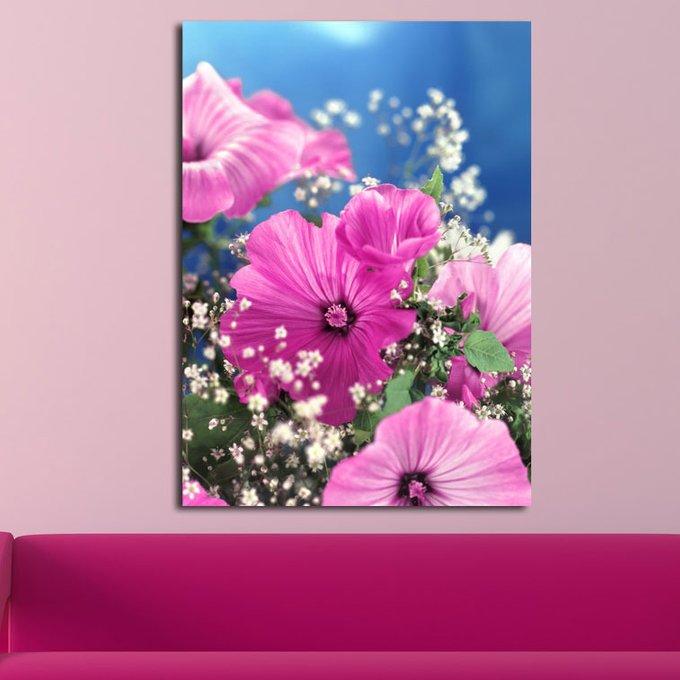Дизайнерская картина на холсте: Розовая петуния
