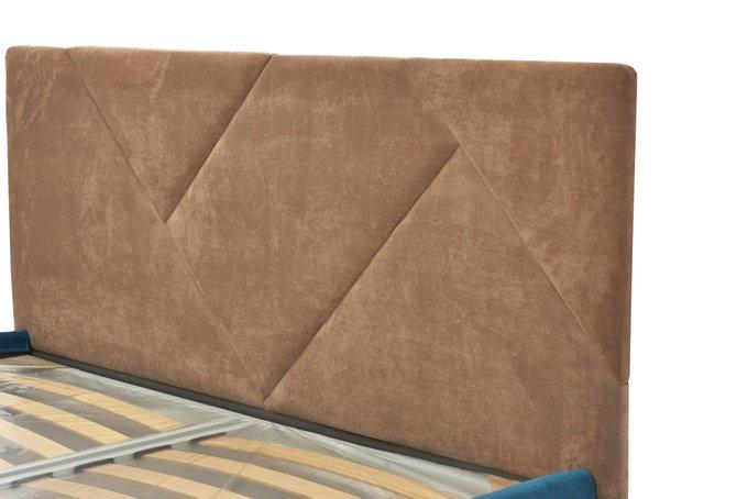 Кровать Армистис с коричневым изголовьем 180х200