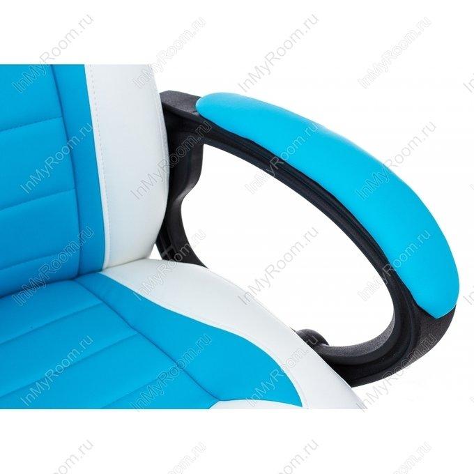 Компьютерное кресло Kadis сине-белого цвета