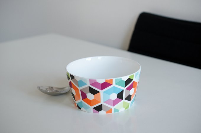 Миска фарфоровая Remember hexagon