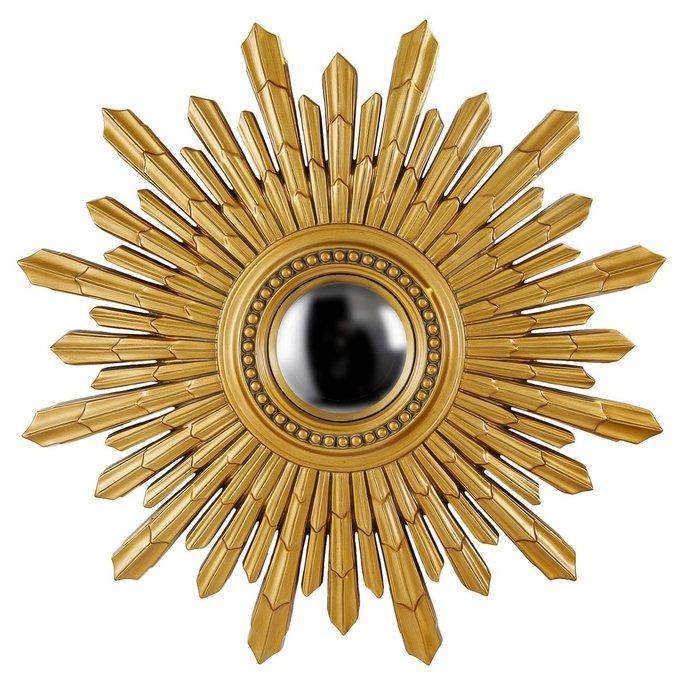 Настенное Зеркало-солнце New Solar Gold