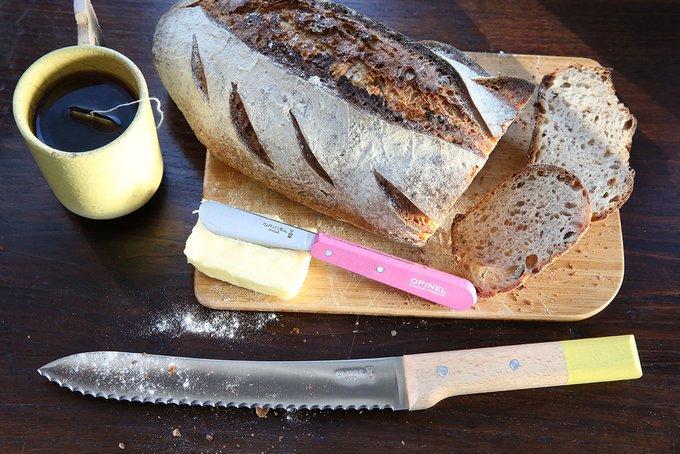 Нож кухонный Parallele для хлеба из стали и натурального бука