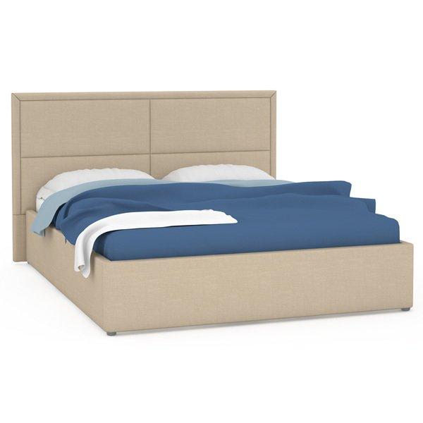 Кровать Прага бежевого цвета 160х200
