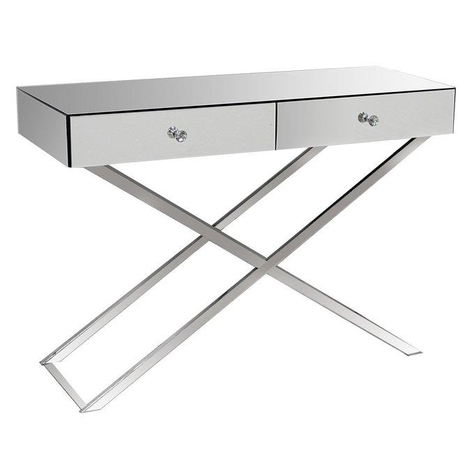 Зеркальный консольный столик с двумя ящиками Hollywood