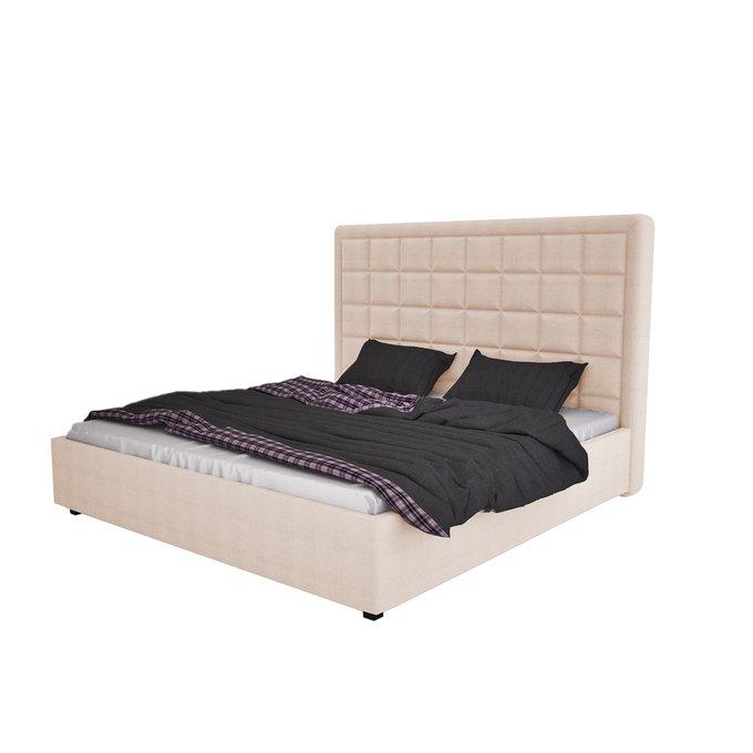Кровать Elizabeth Велюр Светло-бежевый 160х200